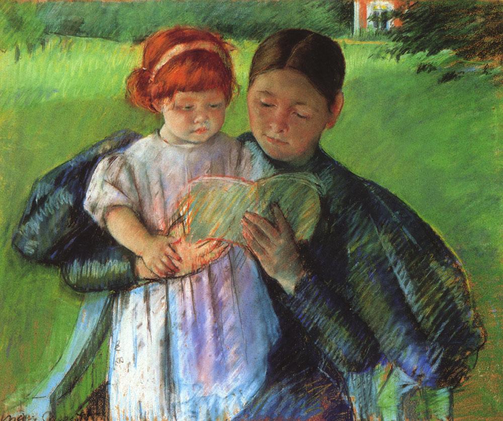 Cassatt_Mary_Nurse_Reading_to_a_Little_Girl_1895
