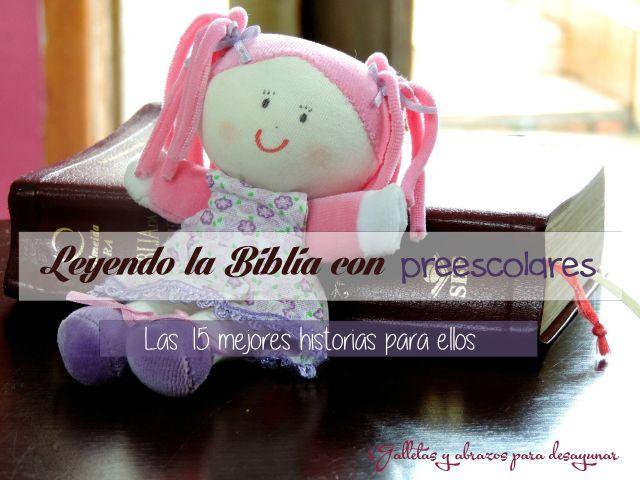 Leyendo la Biblia con preescolares