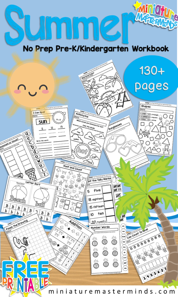Summer-No-Prep-Workbook-Kindergarten-PreK-595x992